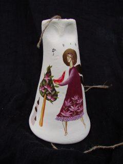 Керамический колокольчик с росписью