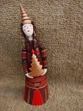 Новогодняя игрушка из керамики