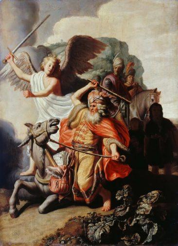 Рембрандт встреча Валаама с Ангелом